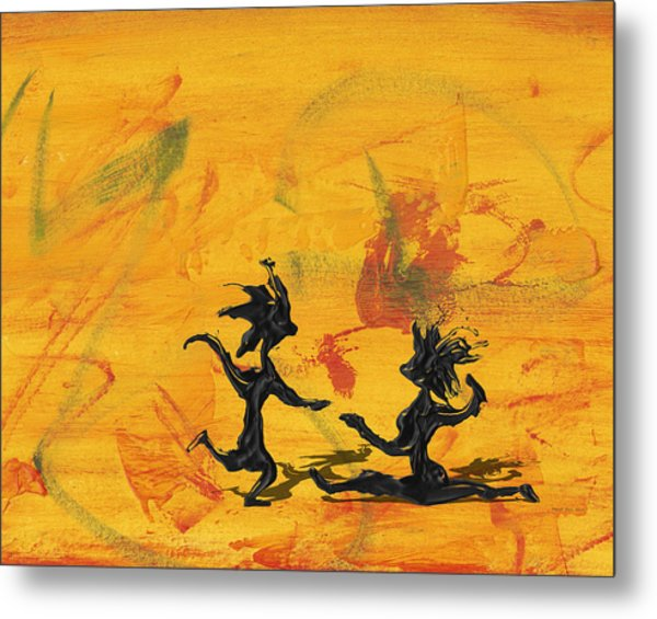 Dance Art Dancing Couple 238 Metal Print