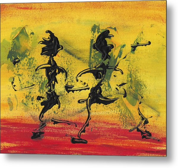 Dance Art Dancing Couple Viii Metal Print