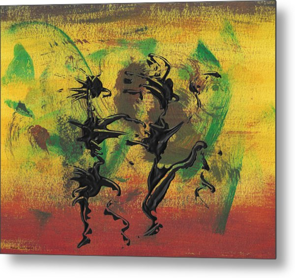 Dance Art Dancing Couple Xi Metal Print