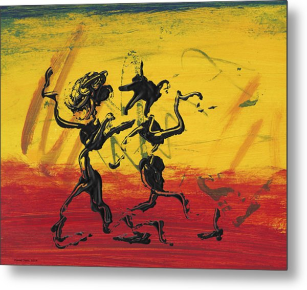 Dance Art Dancing Couple Xii Metal Print