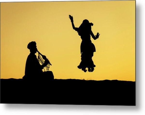 Dance In The Dunes, Jaisalmer Metal Print