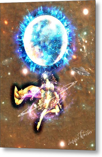 Dance Me To The Moon Metal Print