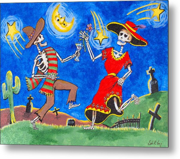 Metal Print featuring the painting Dance Of The Dead by Dale Loos Jr