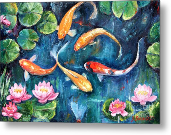 Dance Of The Koi Metal Print