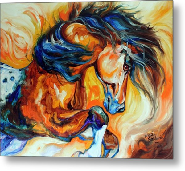 Dance Of The Wild One Metal Print