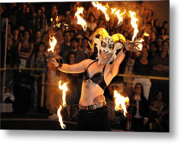 Dance On Fire Metal Print by Joe Longobardi