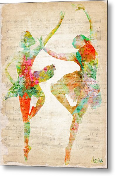 Metal Print featuring the digital art Dance With Me by Nikki Smith