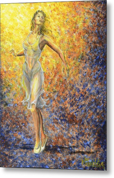 Dancer Away Metal Print