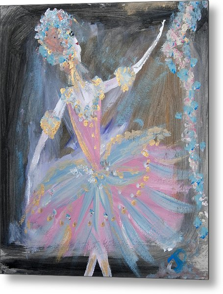 Dancer In Pink Tutu Metal Print