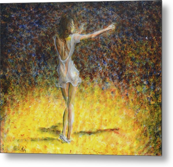 Dancer Spotlight Metal Print