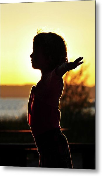 Dancing At Sunset Metal Print