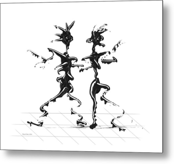 Dancing Couple 2 Metal Print