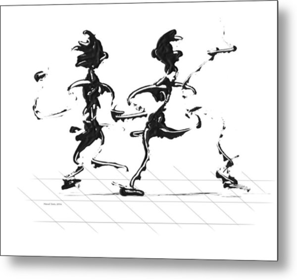 Dancing Couple 3 Metal Print