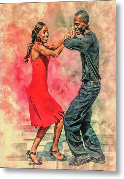 Dancing In The Street Metal Print