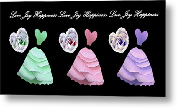 Dancing The Love Dance - Love Joy Happiness - No. 2 Metal Print by Jacqueline Migell