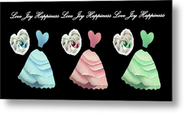 Dancing The Love Dance - Love Joy Happiness No. 3 Metal Print by Jacqueline Migell