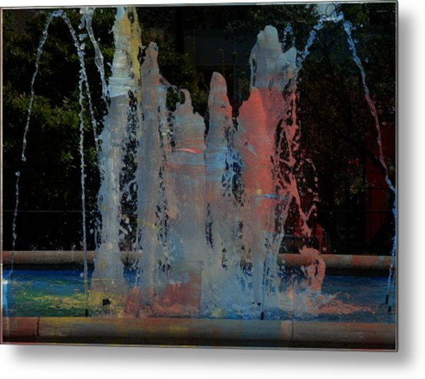Dancing Waters Kaleidoscope Metal Print