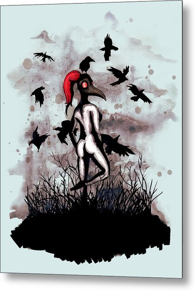Dancing With Crows Metal Print