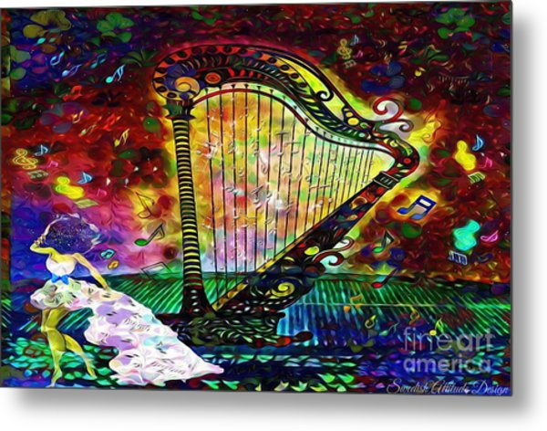Dancing With The Harp Metal Print