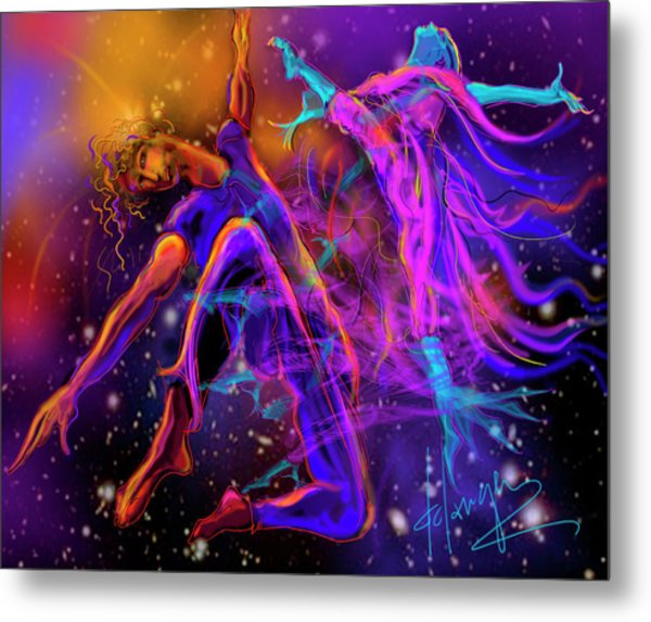 Dancing With The Universe Metal Print