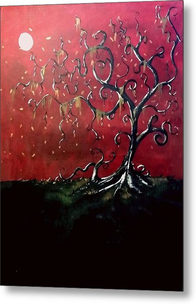 Dancing Wood Metal Print