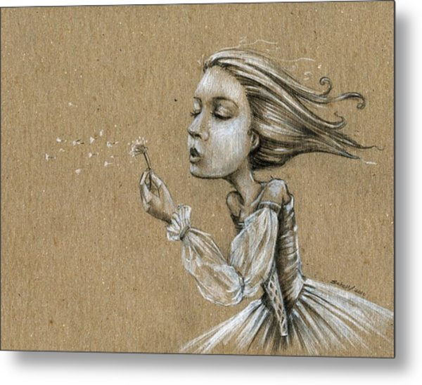 Dandelion Wishes Metal Print by Michael Scholl