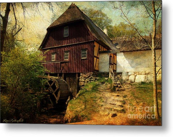 Danish Watermill Anno 1600 Metal Print