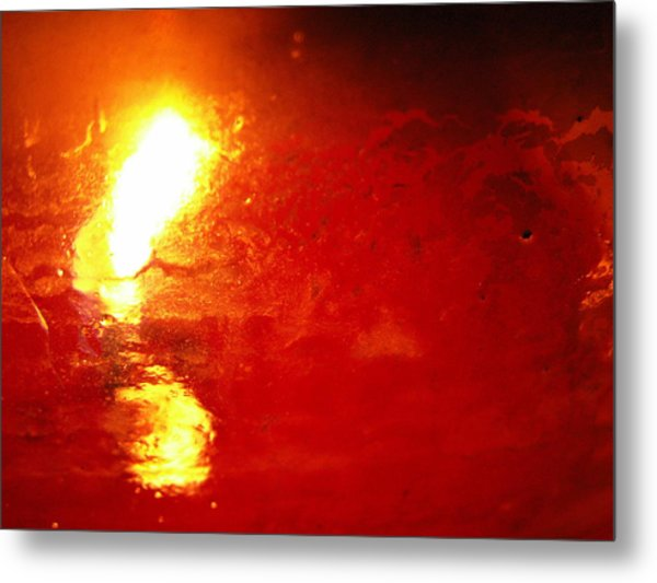 Dante's Inferno Photos Thirty Seven Oil Well Flame Up Metal Print