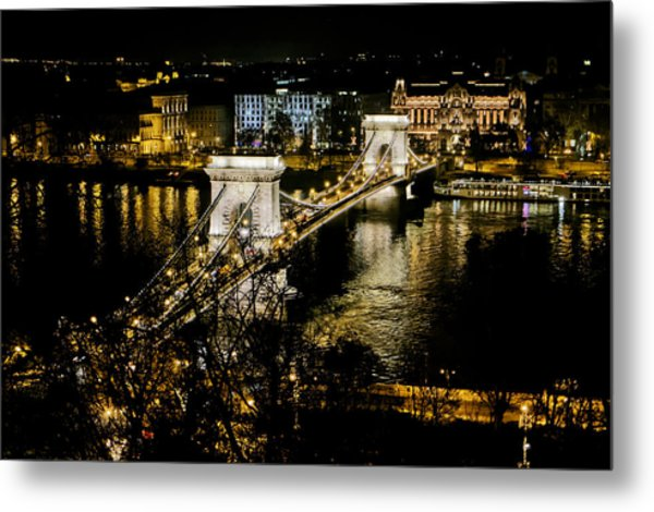 Danube Chain Bridge Metal Print