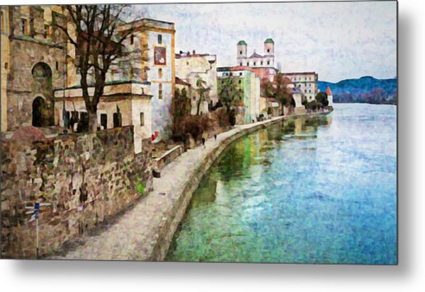 Danube River At Passau, Germany Metal Print