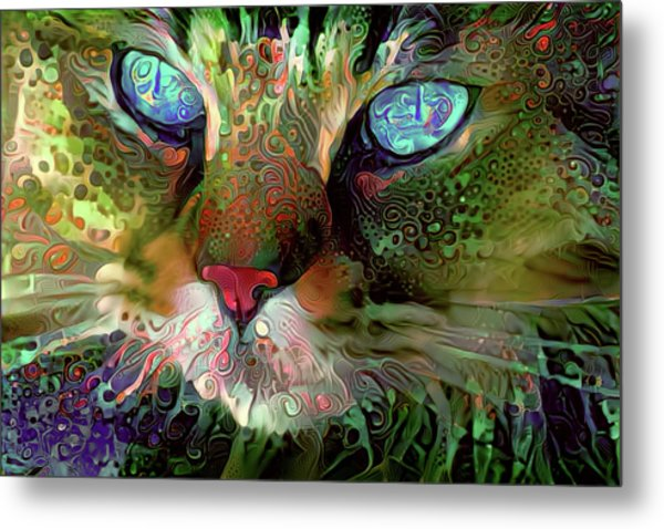 Darby The Long Haired Cat Metal Print