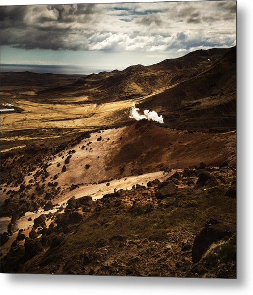 Dark And Steaming Iceland Metal Print
