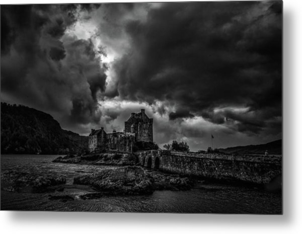 Dark Clouds Bw #h2 Metal Print