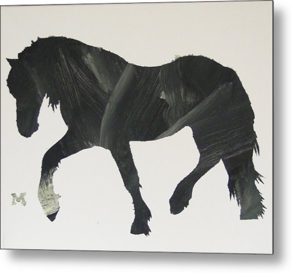 Dark Horse Coming Metal Print