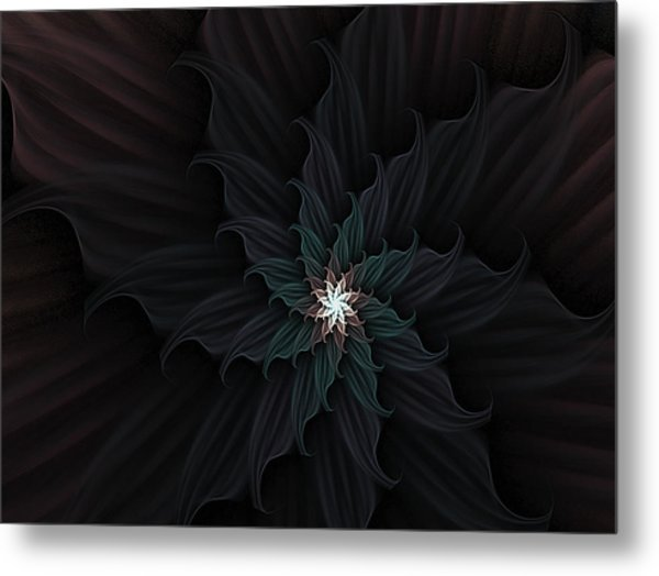 Dark Star Flower Metal Print