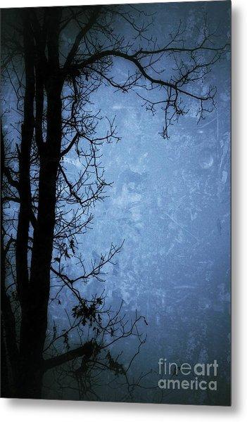 Dark Tree Silhouette  Metal Print