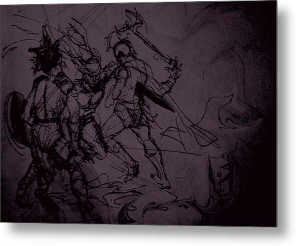 Dark Warriors Metal Print