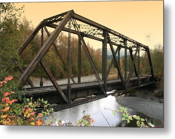 Darrington Bridge Br-6002 Metal Print by Mary Gaines
