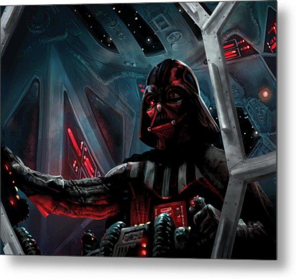Darth Vader, Imperial Ace Metal Print