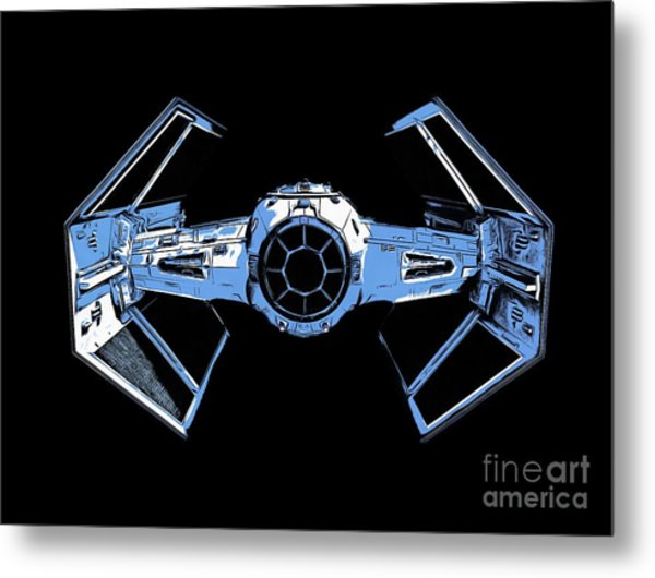 Darth Vaders Tie Figher Advanced X1 Tee Metal Print