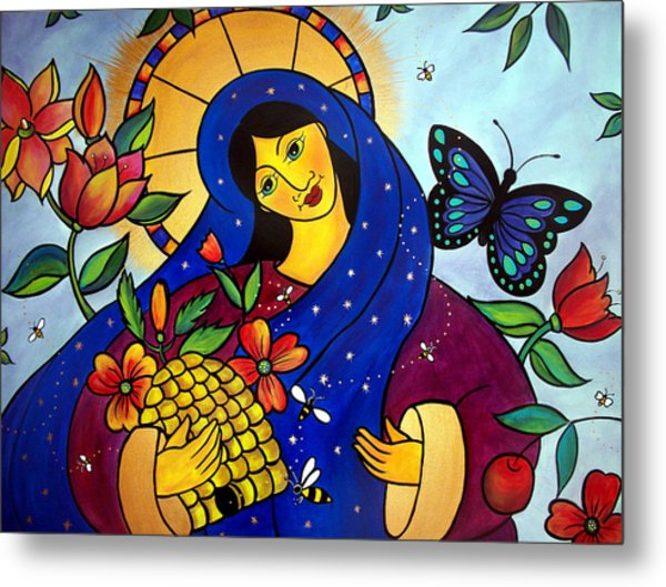 Metal Print featuring the painting Dat Rosa Mel Apibus by Jan Oliver-Schultz
