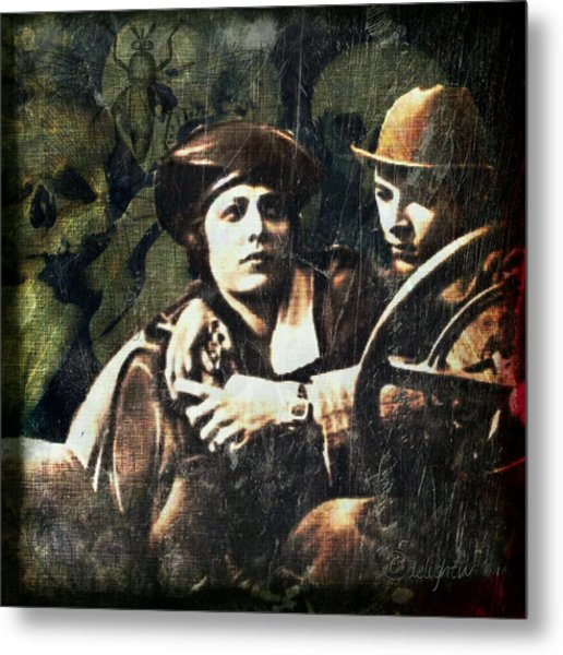 Metal Print featuring the digital art Date Night by Delight Worthyn