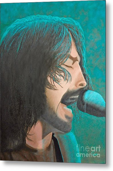 Dave Grohl Of The Foo Fighters Metal Print