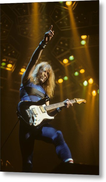Dave Murray Of Iron Maiden Metal Print
