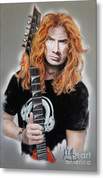 Dave Mustaine Metal Print