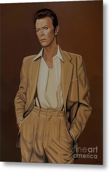 David Bowie Four Ever Metal Print