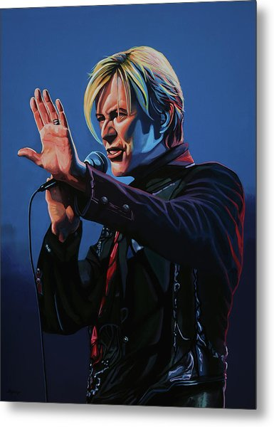 David Bowie Live Painting Metal Print