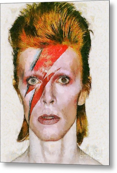 David Bowie, Music Legend Metal Print