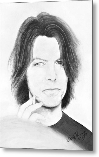David Bowie - No Pressure Metal Print