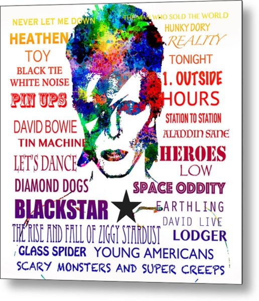 David Bowie Tribute Metal Print